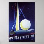 Viagens vintage, a feira de mundo 1939 da Nova Ior Poster