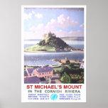 Viagens vintage, a montagem de St Michael Impressão