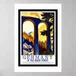 Viagens vintage Alemanha a Floresta Negra Posteres