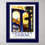 Viagens vintage Alemanha a Floresta Negra tamanho  Posters
