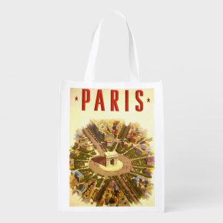 Viagens vintage, Arco do Triunfo Paris France Sacolas Ecológicas