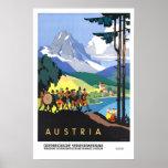 Viagens vintage, Áustria Pôsteres