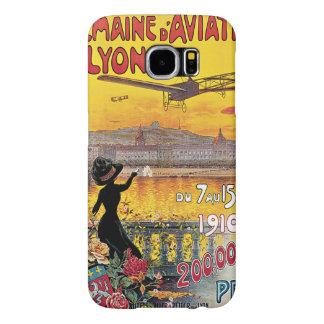 Viagens vintage, aviões festival aéreo, Lyon, Capa Para Samsung Galaxy S6