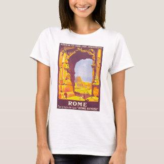 Viagens vintage, coliseu, italiano de Roma Italia Camiseta