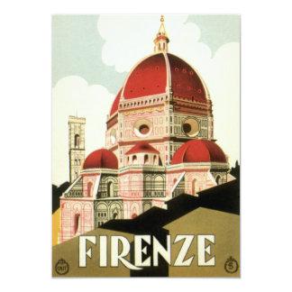Viagens vintage, convite da igreja de Florença