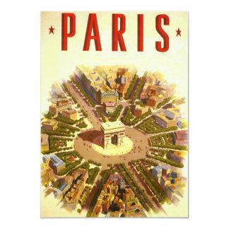 Viagens vintage, convite de Arco do Triunfo Paris