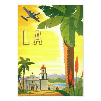 Viagens vintage, convite de Los Angeles,