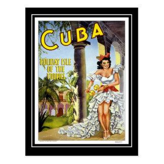 Viagens vintage Cuba do cartão Cartão Postal