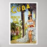 Viagens vintage, Cuba Poster