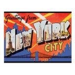 Viagens vintage da Nova Iorque Cartão Postal