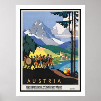 Viagens vintage de Áustria Poster