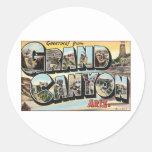 Viagens vintage do Grand Canyon Adesivos Em Formato Redondos