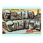 Viagens vintage do Grand Canyon Cartão Postal