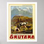 Viagens vintage do Gruyère Posters
