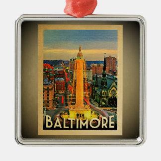 Viagens vintage do ornamento de Baltimore Maryland