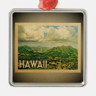 Viagens vintage do ornamento de Havaí