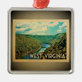 Viagens vintage do ornamento de West Virginia