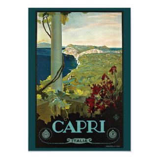 Viagens vintage, ilha convite de Capri, Italia