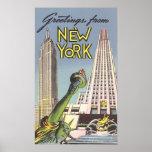 Viagens vintage, marcos famosos da Nova Iorque Pôsteres