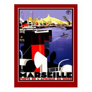 Viagens vintage Marselha do cartão