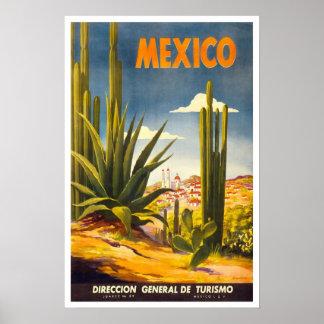 Viagens vintage, México Pôster