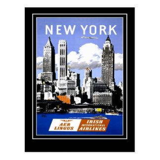 Viagens vintage New York América do cartão