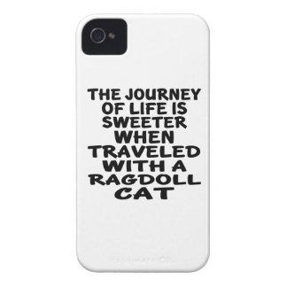 Viajado com gato de Ragdoll Capa Para iPhone 4 Case-Mate