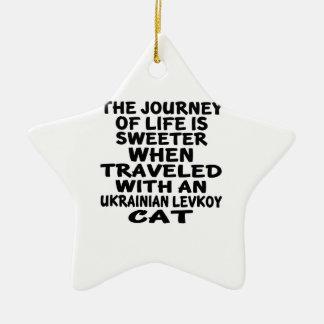 Viajado com o gato de Levkoy do ucraniano Ornamento De Cerâmica