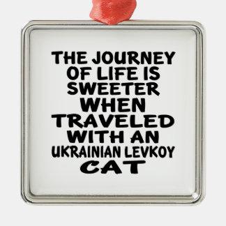 Viajado com o gato de Levkoy do ucraniano Ornamento De Metal