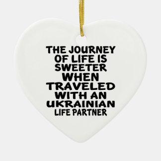 Viajado com um sócio ucraniano da vida ornamento de cerâmica