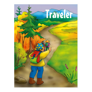 Viajante - modelo do cartão