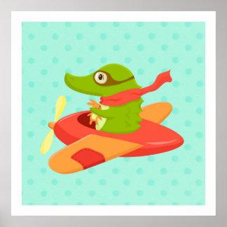 Viajantes pequenos: Poster do crocodilo do vôo Pôster