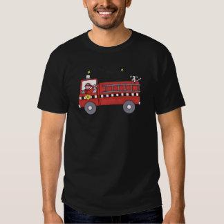 Viatura de incêndio camisetas