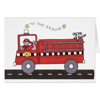 Viatura de incêndio cartão comemorativo