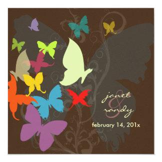 Vibração… por multi cores das borboletas convites personalizados