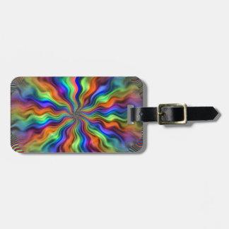 Vibrações místicos etiqueta de bagagem