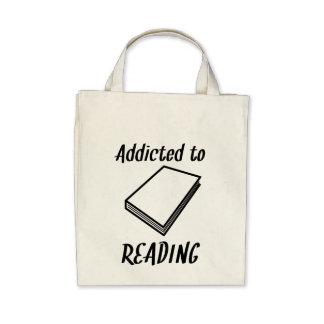 Viciado à leitura bolsa para compras