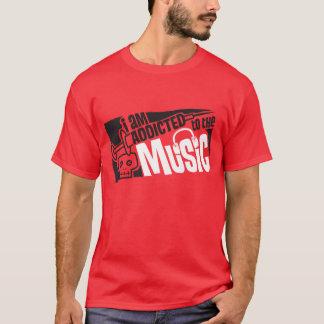 viciado à música camiseta