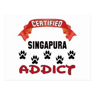 Viciado certificado de Singapura Cartão Postal