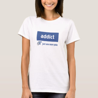 Viciado de Facebook Camiseta