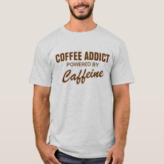 Viciado do café psto pela camisa da cafeína t