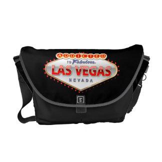 Viciado sinal engraçado de Las Vegas, Nevada Bolsas Mensageiro