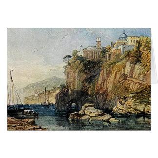 Vico, baía de Nápoles - cartão da pintura da