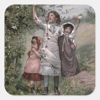 Victorian do vintage & bonito: Escolha de Adesivo Quadrado