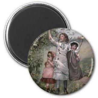 Victorian do vintage & bonito: Escolha de Blackber Ímã Redondo 5.08cm
