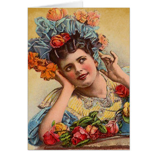 Victorian do vintage & cartão do dia dos namorados