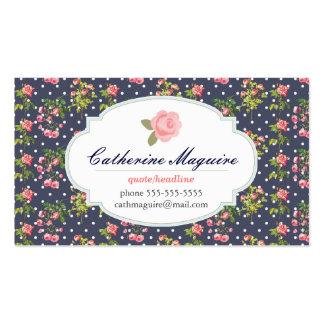Victorian do vintage floral alguma ocupação cartão de visita