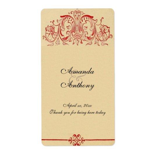 Victorian do vintage, vinho barroco, Wedding, Etiqueta De Frete