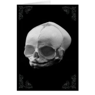 Victorian gótico Notecard do crânio infantil Cartão De Nota