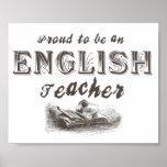 Victorian orgulhoso do professor de inglês posters